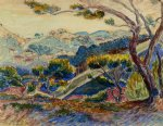 henri edmond cross landscape iv painting