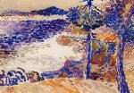 henri edmond cross pines by the sea painting