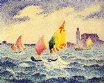henri edmond cross sailboats near chicago painting