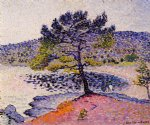 the beach evening by henri edmond cross painting