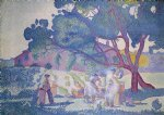 farm original paintings - the farm morning by henri edmond cross