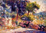 henri edmond cross the flowered trees painting 32440