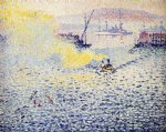 toulon winter morning by henri edmond cross painting