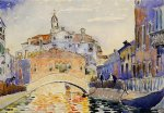 venetian canal by henri edmond cross painting