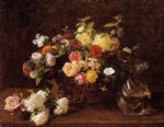 henri fantin latour basket of flowers painting 77490