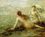 bathers by the sea by henri fantin latour painting