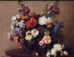 henri fantin latour bouquet of diverse flowers painting 77728