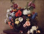 henri fantin latour bouquet of diverse flowers painting 32180