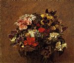 henri fantin latour bouquet of flowers pansies prints