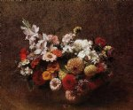 bouquet of flowers by henri fantin latour painting