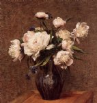 bouquet of peonies by henri fantin latour painting