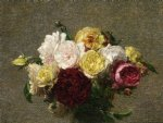 bouquet of roses by henri fantin latour painting