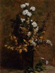 henri fantin latour broom and other spring flowers in a vase posters