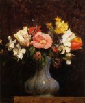 henri fantin latour flowers camelias and tulips painting