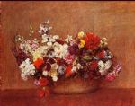 henri fantin latour flowers in a bowl painting 78929