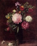 henri fantin latour flowers large bouquet with three peonies painting 32212