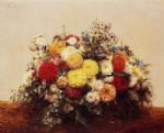 henri fantin latour large vase of dahlias and assorted flowers oil paintings