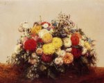 henri fantin latour large vase of dahlias and assorted flowers painting 32237