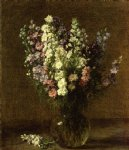 henri fantin latour watercolor paintings - larkspur by henri fantin latour