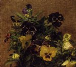henri fantin latour pansies iii paintings