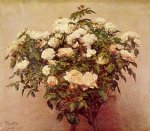 henri fantin latour watercolor paintings - rose trees by henri fantin latour