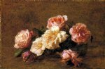 rose original paintings - roses 12 by henri fantin latour
