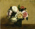 rose original paintings - roses 15 by henri fantin latour