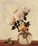 rose original paintings - roses 19 by henri fantin latour