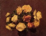 rose original paintings - roses 4 by henri fantin latour