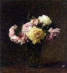 rose original paintings - roses 6 by henri fantin latour