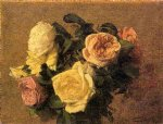 rose original paintings - roses 7 by henri fantin latour