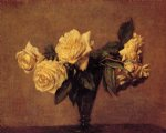 rose original paintings - roses 8 by henri fantin latour