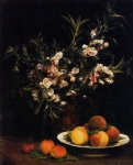 henri fantin latour still life balsimines peaches and apricots painting 32286