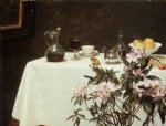 henri fantin latour still life corner of a table painting 32288