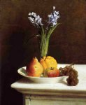 henri fantin latour still life hyacinths and fruit painting 32291