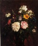 still life with flowers by henri fantin latour painting