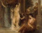 the bath by henri fantin latour acrylic paintings