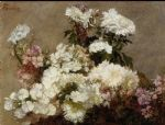 henri fantin latour white phlox summer chrysanthemum and larkspur by henri fantin-latour paintings