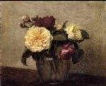 henri fantin latour yellow and red roses by henri fantin-latour paintings