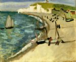 henri matisse acrylic paintings - aht amont cliffs at etretat by henri matisse