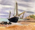 henri matisse acrylic paintings - boats at etretat by henri matisse