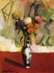 henri matisse acrylic paintings - chrysanthemums in a chinese vase by henri matisse