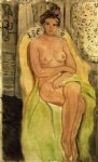 henri matisse acrylic paintings - nude in an armchair legs crossed by henri matisse