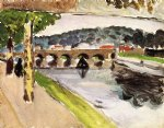 henri matisse famous paintings - parade aux platanes by henri matisse