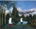 henri rousseau original paintings - banks of the oise by henri rousseau