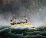 henri rousseau original paintings - boat in a storm by henri rousseau