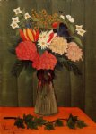 henri rousseau original paintings - bouquet of flowers with an ivy branch ii by henri rousseau