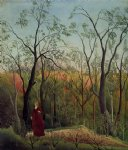 forest famous paintings - forest promenade by henri rousseau