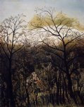 forest famous paintings - forest rendezvous by henri rousseau