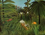 henri rousseau horse attacked by a jaguar painting 32055